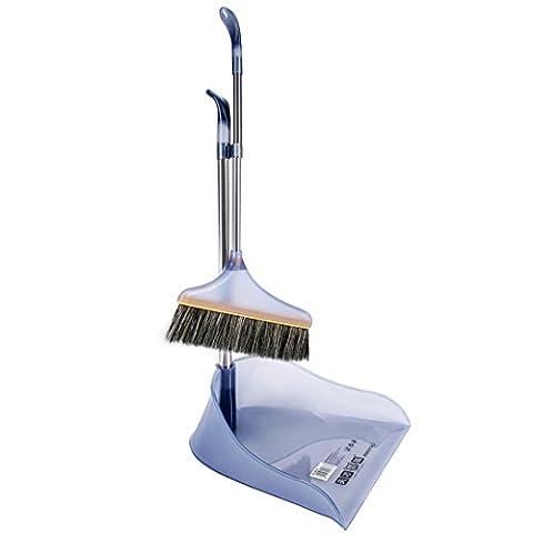 Duster und Kehrschaufel Set, hansee® Rubbermaid Komfort Grip Duster und Kehrschaufel Set Fashion Besen Reinigung (Acciaio Inossidabile Rettangolare Pan)