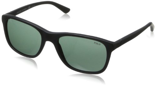 Polo Ralph Lauren Herren PH4085 Sonnenbrille, Schwarz (Matte Black 528471), One size (Herstellergröße: 55)