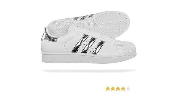 e212d54815fe Adidas Superstar II 2 Originals Womens Trainers white   metallic silver UK  8  Amazon.co.uk  Shoes   Bags