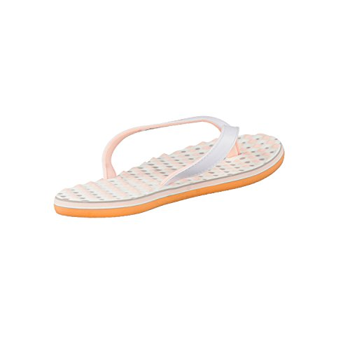 adidas Eezay Dots W, Tongs Femme white coral