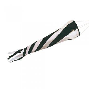 CIM Windsack - Windturbine 90 Black/White - UV-beständig und wetterfest - Ø20cm, Länge: 90cm - inkl. Kugellagerwirbelclip (Black/White)