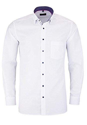 Eterna long sleeve Shirt MODERN FIT Chambray uni Bianco