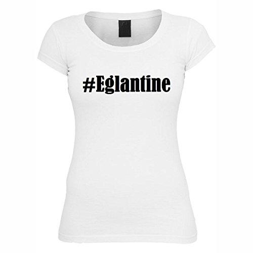 T-Shirt #Eglantine Hashtag Raute für Damen Herren und Kinder ... in den Farben Schwarz und Weiss Weiß