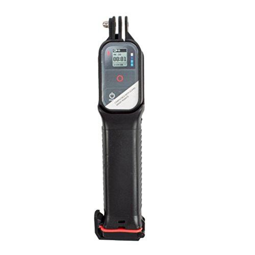 LEDMOMO Einbeinstativ Handheld Selfie Stick Pole mit wasserdichte Remote Aufbewahrungsbox für GoPro (schwarz)