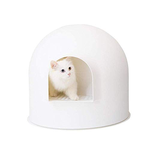 pidan studio-Igloo Cat Litter Box White/Maison de Toilette weiße/Katzentoilette Weiß für Katzen -