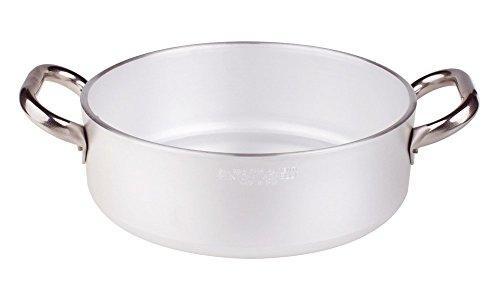Sauteuse cylindrique pour plaque vitrocéramique Épaisseur 5 mm avec 2 poignées en inox diamètre 240 mm
