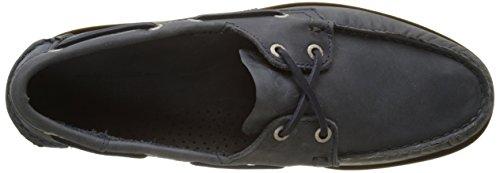 Bootsschuhe Herren Sebago Leather Blau DOCKSIDES Navy w0xAEpqPO