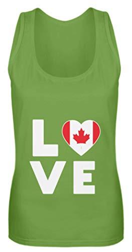 Schuhboutique Doris Finke UG (haftungsbeschränkt) Ich Liebe Love Kanada Flagge Fahne Herz - Frauen Tanktop -M-LimettenGrün