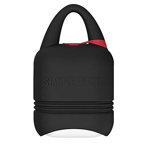 Waroomss Custodia Protettiva per Cuffie Bluetooth - Nuova Custodia Protettiva per Accessori in Silicone Resistente a Cadute e Polvere per Le Cuffie Bluetooth Apple Airpods Nero