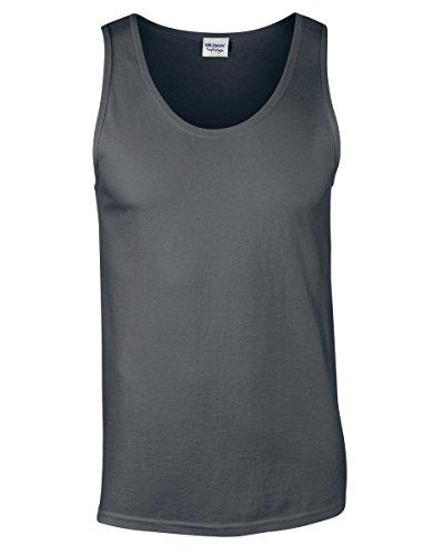 Gildan Herren Sportbekleidung Sport Running Rundhalsausschnitt Ärmellos Erwachsene Tank Top Shirt Gr. XX-Large, anthrazit -