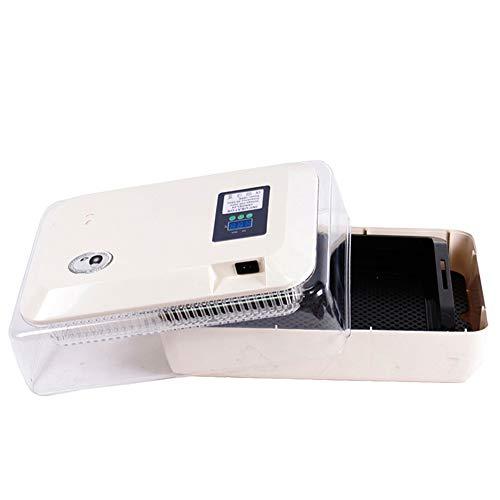 ZHUANFAFA Incubadora Doméstica De 24 Huevos con Pantalla Digital LED, Tapa Automática, Fácil De Limpiar, Estuche Transparente