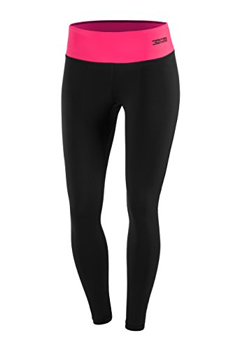 FITTECH PERFORMANCE Damen Thermoaktiv Legging Leggins Strumpfhose Tights Laufhose Sporthose Lang Fitness Pilates Outdoor Radsport Running - 2