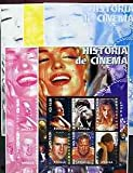 Angola 2002 History of the Cinema #01 (Meryl Streep Tom Cruise Michelle Pfeiffer Mel Gibson Michael Douglas Harrison Ford) prog prfs FILMS ENTERTAINMENTS MOVIES PERSONALITIES JandRStamps