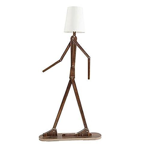 Im europäischen Stil Stehlampe Serie Nordischen Stil Kreativ Menschlicher Typ Tuch Lampenschirm Hohe Durchlässigkeit Stehleuchte Schlafzimmer Nachttischlampe Wohnzimmer Kinderzimmer LED Vertikal Tischleuchte / 4 Farben Erhältlich - Retro-Stehlampe ( Farbe : 1 )