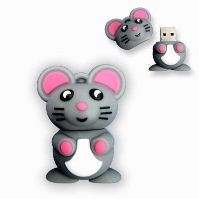 Hilai 4GB Neuheit Cartoon Niedliche Graue Maus USB-Flash-Stick Pen-Laufwerk Memory Stick Geschenk UK [PC] - 4 Gb Pen