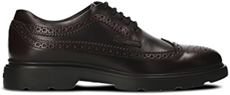 Hogan Hombre HXM3040W3626MAR807 Marrón Cuero Zapatos De Cordones -