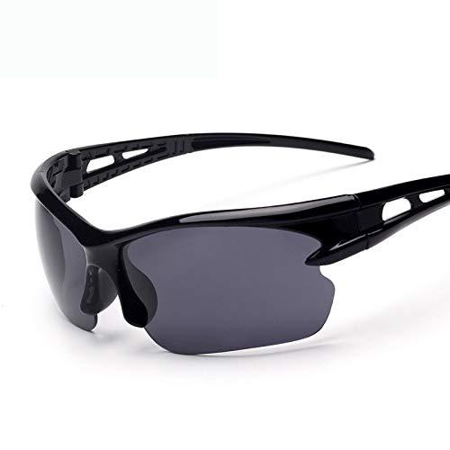 NAN® Herren Und Damen Outdoor Reitbrille Polarisiert Sport Sonnenbrille Jugend Angeln Baseball Bike Laufen Fahren Golf Motorrad Brille,Black