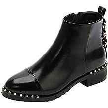 Beladla Moda Invierno Zapatos Antideslizante Impermeable Martin Boots Botines Botas De Nieve para Mujer Rivet