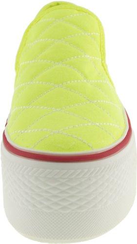Maxstar C50 basse-dessus de la plate-forme antidérapante Ons Baskets chaussures Vert - Vert flup
