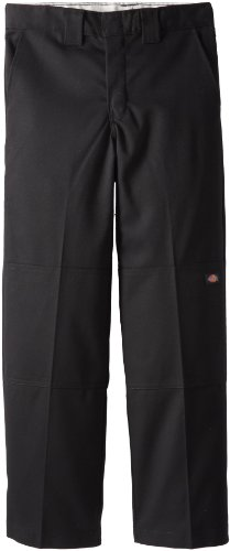Dickies - - Jungen QP0200 Flexwaist Double Knee Pant, 12 Husky, Black -