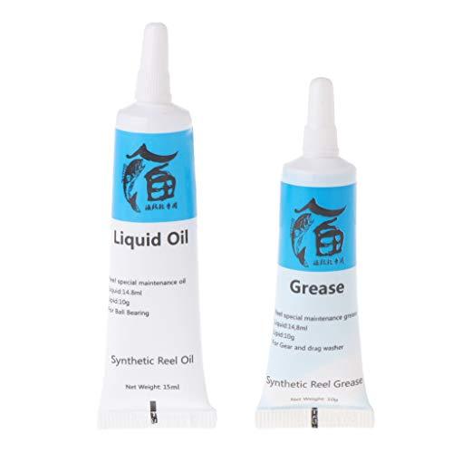 1 Set Angelrolle Schmieröl und Schmierfett