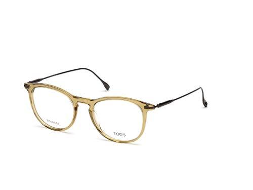 Tod's to5187, occhiali da sole unisex-adulto, (marrone chiaro luc), 50.0
