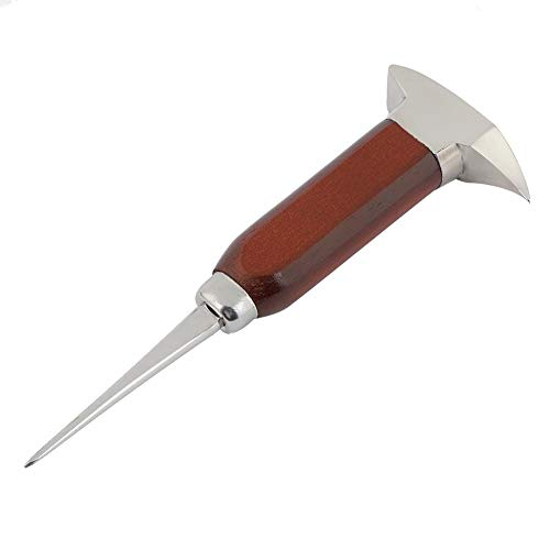 Pokerty Eispickel, 6,7 Zoll Edelstahl-Eispickel mit Sicherheitsholzgriff Doppelkopf-Eispickel für Küchenstangen