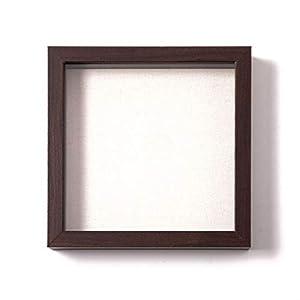 Muzilife 3D Bilderrahmen zum Befüllen 25x25cm Tiefe Box Objektrahmen mit Glasscheibe 1 Stück, Schwarz