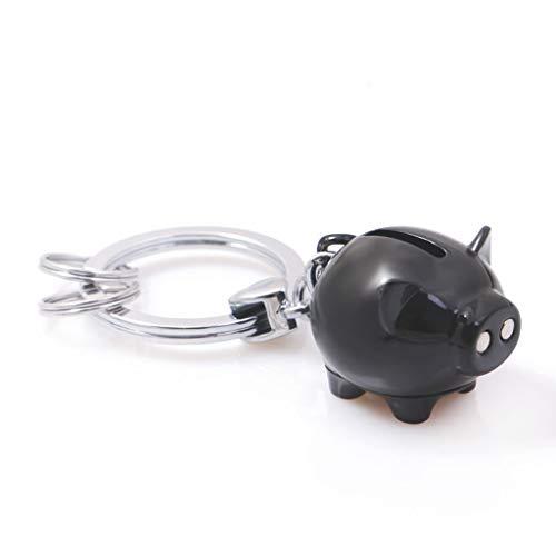 PLL Kreative niedliche Schwarze Kleine Schwein-Form-Schlüsselkette Schlüsselanhänger Touchpad