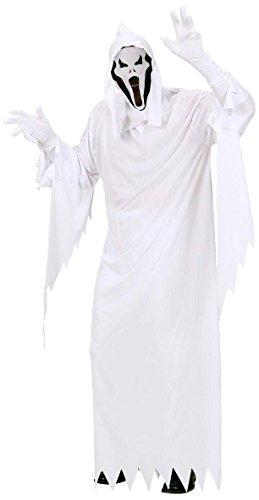 Widmann 02683 - Erwachsenenkostüm Gespenst, Tunika, Maske mit Kapuze, Größe L
