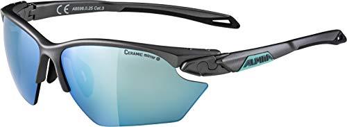 ALPINA Damen Twist Five HR S cm+ Sportbrille, tin matt-Emerald, One Size