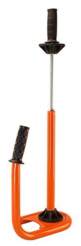 Profi Handabroller für Stretchfolie 450-500 mm orange Metall