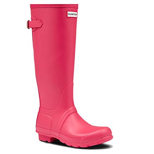 Womens Hunter Original Tall Adjustable Rubber Waterproof Wellingtons Boot - Flair - 7