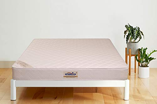 Springtek Luxury Boom-Health 6 inches Coir Foam Queen Size Mattress (White, 75x60x6)
