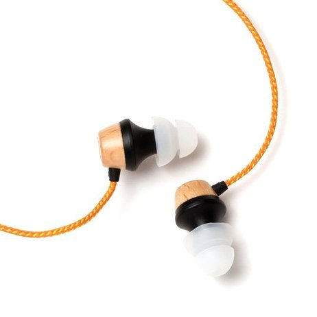 Symphonized ALN Premium Genuine Wood in-Ear Noise-Isolating Headphones with Mic (Orange Stripe)