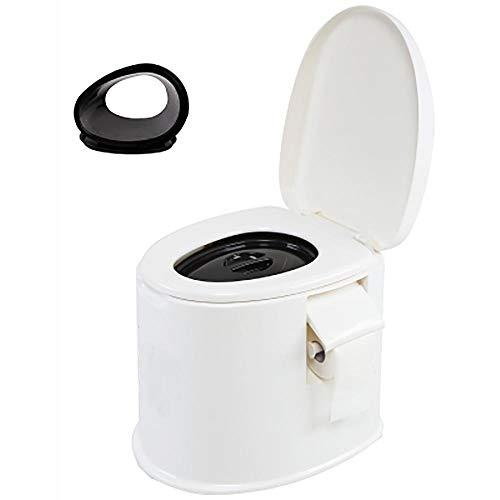 XIHAA Mobile Toilette Anti-Rutsch-Schwangere Frauen Toilette ältere tragbare geduldige Erwachsene Kommode, ältere Schwangere Frauen bewegliche Erwachsene Haushalts-tragbare Kommode,WhiteB
