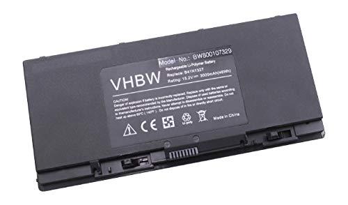 vhbw Batterie Li-Polymer 3000mAh (15.2V) pour Ordinateur Portable, Notebook ASUS Pro B551, Pro B551LA-CR015G, Pro B551LG. Remplace: B41N1327, B41-N1327