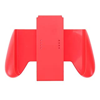Amazingdeal365 Rubber Comfort Grip Handle Bracket Support Holder Charger for Nintendo Switch (Red)