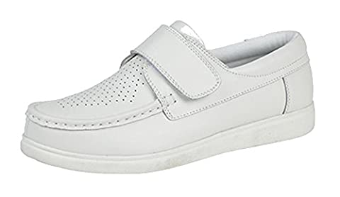 Dek Adults/Unisex Touch Fastening Bowling Shoes (6 UK) (White)
