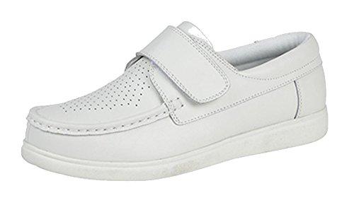 Dek Unisex Klettverschluss Bowling Schuhe (5 UK/38 EU) (Weiß)