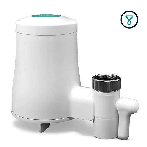 TAPP Water TAPP 2 Click - smarter, biologisch abbaubarer Wasserfilter für den Wasserhahn mit Bluetooth Funktion (beseitigt Mikroplastik, Chlor, Blei, Pestizide)