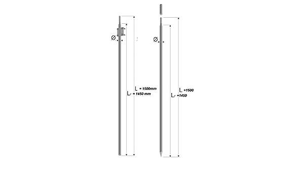 Tiefenerder Erder Erdung /Ø20mm V4A Set 3m Zusammensetzung