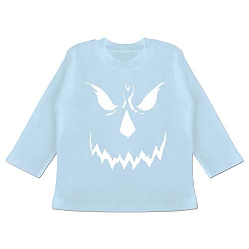 Anlässe Baby - Scary Smile Halloween Kostüm - 6-12 Monate - Babyblau - BZ11 - Baby T-Shirt Langarm