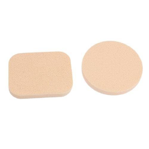 sourcingmap® Outil de Maquillage Rose Eponge Houppe à poudre Applicateur 2 Pcs