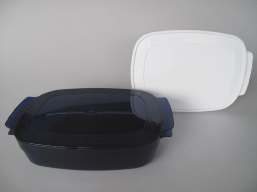 TUPPERWARE MicroCook rectangle 1,7 l bleu