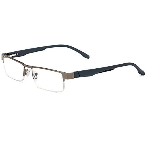 LANOMI Lesebrillen Metall Sehhilfe Augenoptik Halbrand Halbrandbrille Brille Lesehilfe für Damen Herren von 1.0 1.5 2.0 2.5 3.0 3.5 4.0 (Grau, 2.5)