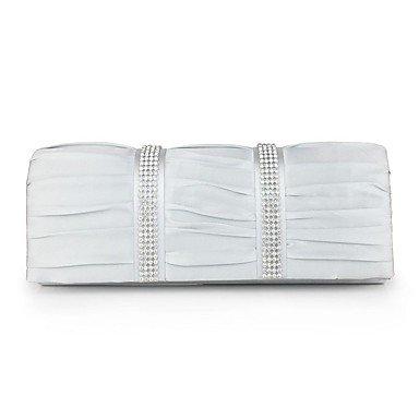 Frauen Satin Formale/Casual/Event/Party/Hochzeit/Outdoor/Büro & Amp; Karriere / Professioanl verwenden Abend Tasche White