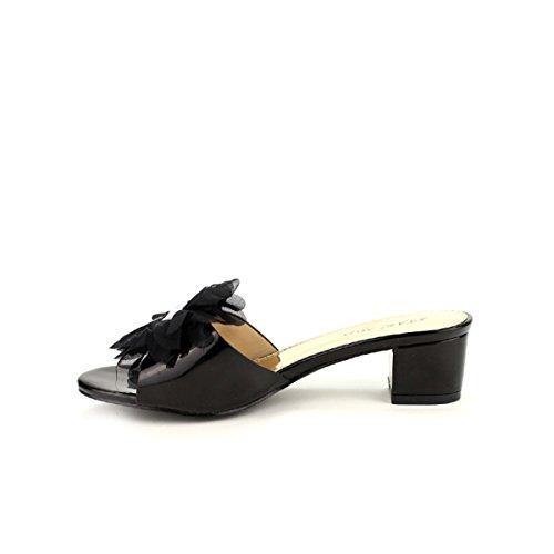 Cendriyon, Mule Ultra black STAR MISS Chaussures Femme Noir