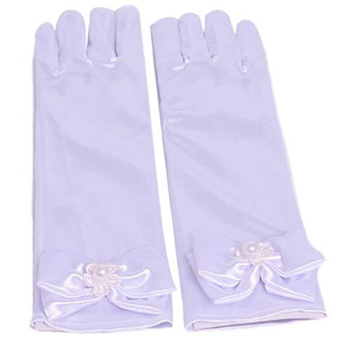 Kostüm Disney Klassische Cinderella Erwachsene Für - OKWIN Mädchen Bowknot Handschuhe Prinzessin Rock Zubehör Satin lange Handschuhe Brautjungfer Pageant Prom Hochzeitsfeiern