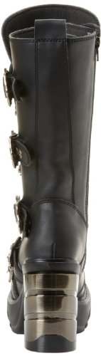 Demonia Steampunk Ankle Boots Sinister-203 Schwarz